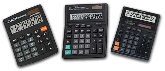 настольные калькуляторы