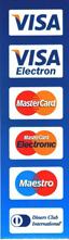 VISA, MasterCard и Maestro