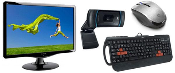 Мониторы, клавиатуры, web-камеры и мыши