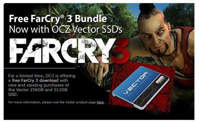 Лицензионная игра FarCry3 при покупке SSD OCZ в Ситилинк